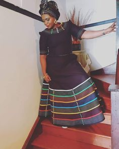 We have the latest modern Xhosa dresses online on Sunika. Discover Top Xhosa dresses designers in South Africa for your next outstanding Xhosa Wedding dress. African Fashion Ankara, African Inspired Fashion, Latest African Fashion Dresses, African Print Fashion, Xhosa Attire, African Attire, South African Traditional Dresses, Traditional Outfits, African Dresses For Women