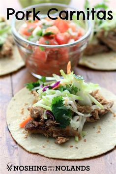 Pork Carnitas by Noshing With The  Nolands - full of smoky flavor and made in a slow cooker!