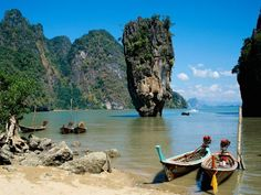 James Bond Island -  a popular attraction in Thailand  - Magical place