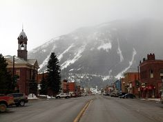 Greene Street, in Silverton, Colorado. Pretty town. Scary to get too...lol