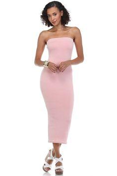 Jersey Tube Midi Dress
