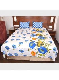 Checke Plaid Pattern Double Bed Sheet