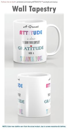 Gratitude ~ Xmas Spirit Quote Coffee Mug by weivy Coffee Quotes, Coffee Mugs, Spirit Quotes, To Spoil, Spoil Yourself, Presents For Friends, Wall Tapestry, Microwave, Dishwasher