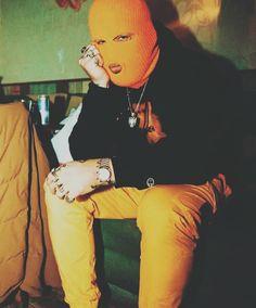 Baddie Gangsta Ski Mask Aesthetic Yellow