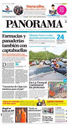 #Portadas #Nacionales #Regionales #PrimeraPagina #Titulares #Noticias #DesayunoInformativo #Martes 09/09/2014 @DiarioPanorama