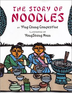 """Left alone to prepare their family's prize-winning dumplings for the annual cooking contest, the young Kang boys accidentally invent a new dish, """"mian tiao,"""" or noodles. Includes a cultural note and a recipe for long life noodles."""