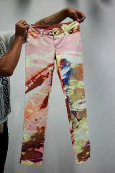 marbled pants