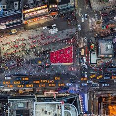 Photograph by George Steinmetz / Times Square on a Saturday night. When I look at this photo I cant help but think of Jimi Hendrix whose time in Manhattan inspired him to write Crosstown Traffic. To see more aerial views of NYC visit by natgeo Monuments, Drones, Times Square, Flight Lessons, Steinmetz, Visiting Nyc, City That Never Sleeps, Concrete Jungle, Birds Eye View