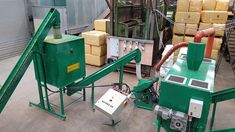 line for production of hop pellets with parcel disassembly, mixing and crushing Bonsai, Nerf, String Garden
