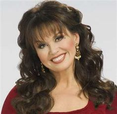 Marie Osmond - I have always loved her for her sense of humor and courage.
