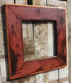 Rustic Framed Mirror With 12 x 12 Opening By by Harvestbilt, $88.00