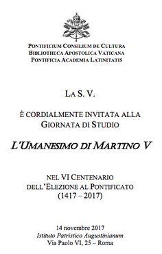 MedioEvo Weblog: L'Umanesimo di Martino V