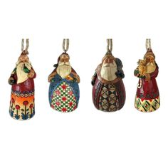 Jim Shore Santa Ornaments - So adorable!