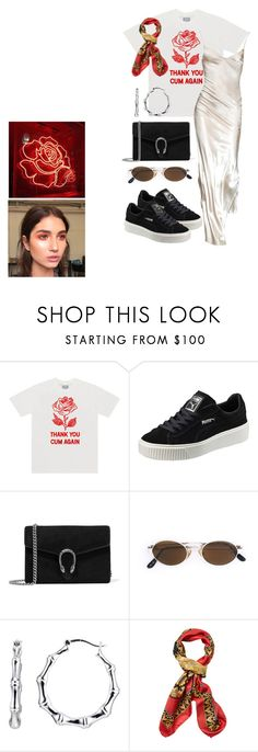 """""""Untitled #518"""" by mimiih on Polyvore featuring Puma, Gucci, Moschino and Versace"""