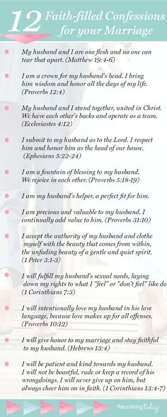 Proverbs 31 woman bible verse/saying/ words:Do you speak life over your marriage? Your words have power to build up! Here are 12 Faith-filled marriage confessions to make your marriage soar. Marriage Prayer, Biblical Marriage, Marriage Goals, Marriage Relationship, Marriage And Family, Happy Marriage, Marriage Advice, Scriptures For Marriage, Marriage Devotional