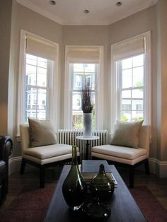 Use The Two Chairs You Already Have In Front Of The Bay Window Roman Blindsbay