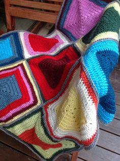 OYA's WORLD- Crochet-Knitting: Crochet: Blanket with BIG SQUAREs