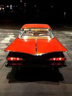 Chevrolet Impala 1959, Mans World, Classic Cars, Vehicles, Hot Rods, Trucks, Orange, Autos, Vintage Classic Cars