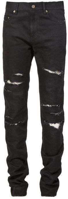 38 Ideas for how to wear black jeans saint laurent Diy Ripped Jeans, Torn Jeans, Shoes With Jeans, Black Jeans, Women's Jeans, Saint Laurent, Jeans Drawing, Nordstrom Jeans, Flannel Lined Jeans
