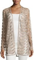 Bagatelle Faux-Leather Leaf Jacket, Taupe