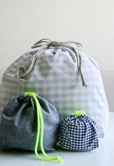 簡単な巾着袋:4つの新しいサイズ! | 裏編みソーホー - 作成