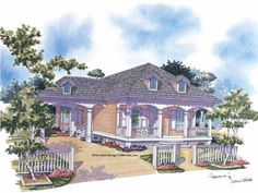 Eplans Cottage House Plan - Southern Comfort - 1792 Square Feet and 2 Bedrooms from Eplans - House Plan Code HWEPL05561