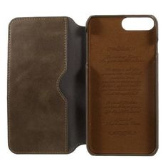 Wallet Leather Folio Mobile Phone Casing for iPhone 7 Plus - Grey