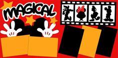 Disney Scrapbooking #disney #scrapbook #layout