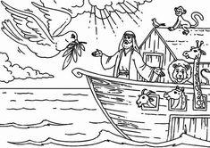Coloring page Noah's Ark | Arche noah, Malvorlagen und ...