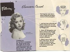 Vintage setting Pattern for longer hair. Glamour casual.
