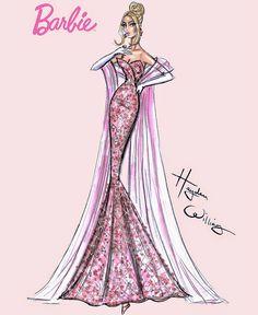 #Hayden Williams Fashion Illustrations: 'Birthday Bash Barbie' by Hayden Williams