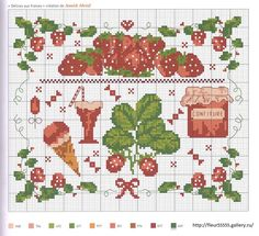 Cross stitch /// Strawberries