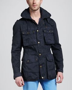 Cotton-Nylon Field Jacket by Burberry Brit at Neiman Marcus.