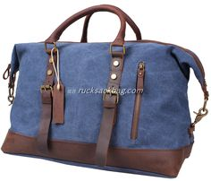Leather Canvas Casual Travel Tote Travel Bags Duffel Bag Color: Blue Material: Canvas, Leather Size: inch Closure: Zipper Pocket: Cellphone pocket, zipper pocket How to Wash a Backpack Canvas Travel Bag, Travel Tote, Canvas Tote Bags, Rucksack Bag, Duffel Bag, Navy Blue Handbags, Leather Duffle Bag, Canvas Shoulder Bag, Vintage Bags