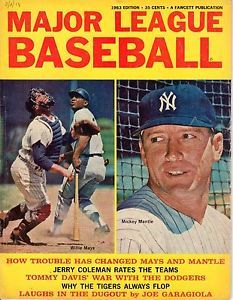 baseball magazines 1963 | 1963-Major-League-Baseball-magazine-Mickey-Mantle-New-York-Yankees ...