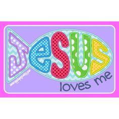 Jesus Loves Me Fish Applique Design / Applique Junkie