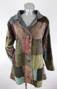 Hippy Coat~Bohemian Multicoloured Patchwork Coat Warm Cotton Winter Hippy Long Jacket~Fair Trade By Folio Gothic Hippy N953JK5