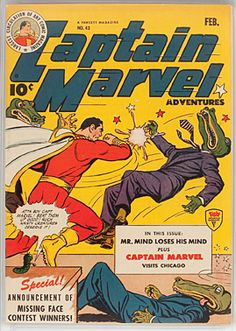 Captain Marvel Vintage Superhero Comic Book Cover Framed — giclee print and framed in USA by MUSEUM OUTLETS