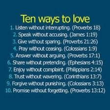 inspirational scriptures - 10 ways to improve the way you love according to the bible. Christian living like Jesus