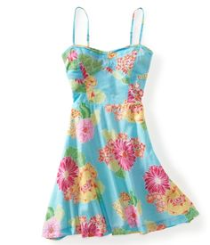 Floral Circle Woven Dress by Aeropostale.  I think I like pink better, but they are both cuteee!