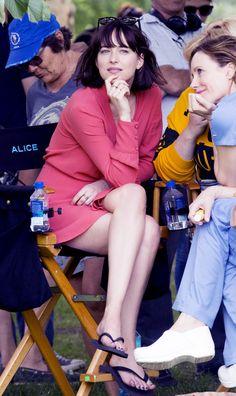Dakota Johnson on the set of How To Be Single in NY - 28 May 2015