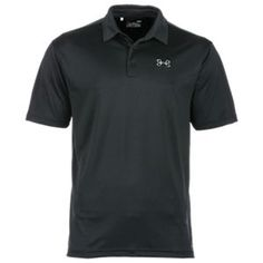 Under Armour Fish Hook Polo for Men - Black/Graphite - XL