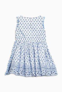 Buy Blue Tile Border Dress (3-16yrs) from the Next UK online shop