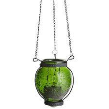 Medallion Hanging Lantern - Green