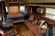Tell us a bit about the way in which the idea to create a bus into a house on wheels came about. You should be mindful that you're residing in a bus and will want to park in weird areas sometimes. The perfect bus isn't going to amazingly appear before … School Bus Conversion, Camper Conversion, School Bus House, School Buses, Minibus, Bus Interior, Interior Ideas, Interior Design, Converted Bus