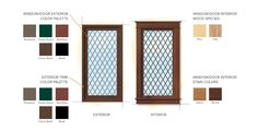 Tudor Home Style Window Color Finishes