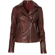 Quilted Leather Biker Jacket ($180) ❤ liked on Polyvore featuring outerwear, jackets, brown, coats, jackets & blazers, leather, women, quilted leather moto jacket, brown biker jacket and quilted motorcycle jacket