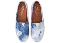 TOMS Blue Tie-Dyed Women's Classics | TOMS.com