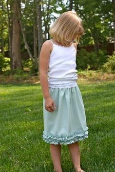 Audrey's skirt pattern for girls by Olabelhe, available at www.chadwickheirlooms.com