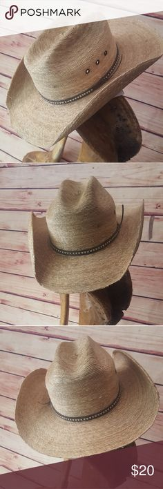 5e9a0f38899 Straw Cowboy Hat- Youth Large Straw Cowboy Hat. Leather hat hand is two  tone Brown. Youth size large. Straw. Has signs of wear